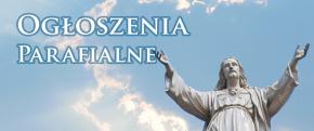 Ogłoszenia duszpasterskie  34 Niedziela Zwykła  24. listopada